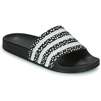 Chaussures Femme Claquettes adidas Originals ADILETTE W Noir / Blanc