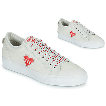 Chaussures Femme Baskets basses adidas Originals NIZZA  TREFOIL W Blanc / Rouge