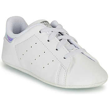 Chaussures Fille Baskets basses adidas Originals STAN SMITH CRIB ECO-RESPONSABLE Blanc / Argent