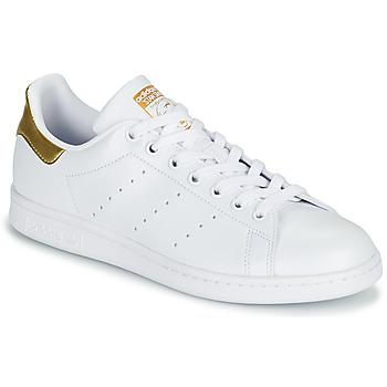 Chaussures Femme Baskets basses adidas Originals STAN SMITH W ECO-RESPONSABLE Blanc / Doré