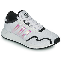 Chaussures Fille Baskets basses adidas Originals SWIFT RUN X J Blanc / Iridescent