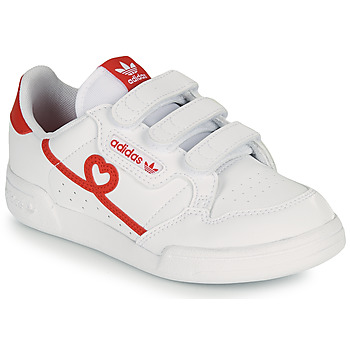 Chaussures Fille Baskets basses adidas Originals CONTINENTAL 80 CF C Blanc / Rouge