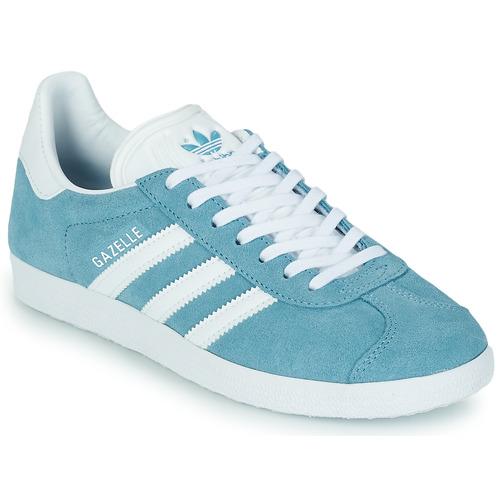 adidas Originals GAZELLE W Bleu - Chaussures Baskets basses Femme ...