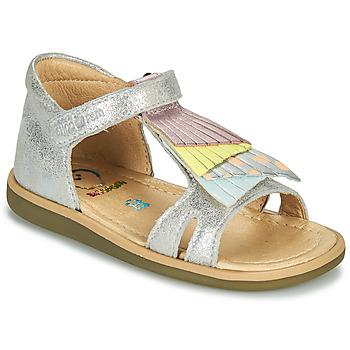 Chaussures Fille Sandales et Nu-pieds Shoo Pom TITY FALLS Argenté