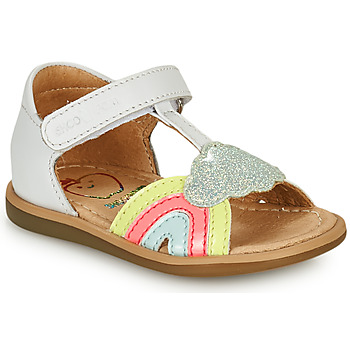Chaussures Fille Sandales et Nu-pieds Shoo Pom TITY RAINBOW Blanc