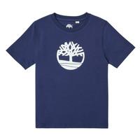 Vêtements Garçon T-shirts manches courtes Timberland TRISTA Bleu