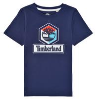 Vêtements Garçon T-shirts manches courtes Timberland GRISS Marine