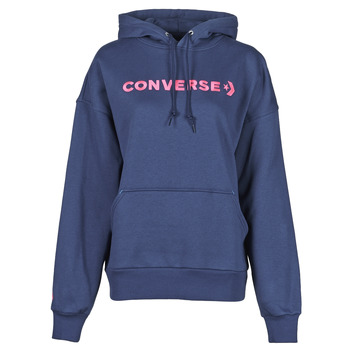 Vêtements Femme Sweats Converse EMBROIDERED WORDMARK HOODIE Bleu