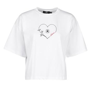 Vêtements Femme T-shirts manches courtes Converse CHUCK WOMENS LOVE BOXY TEE Blanc