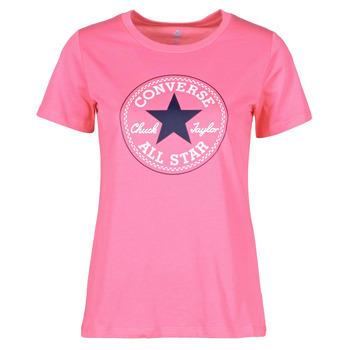 Vêtements Femme T-shirts manches courtes Converse CHUCK PATCH NOVA TEE Rose