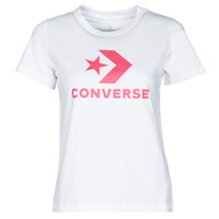 Vêtements Femme T-shirts manches courtes Converse STAR CHEVRON CENTER FRONT TEE Blanc