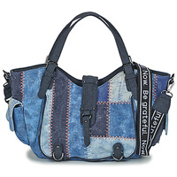 Sacs Femme Sacs porté épaule Desigual BOLS_ PATCH DENIM_ROTTERDAM DENIM DARK BLUE