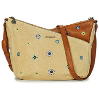 Sacs Femme Sacs Bandoulière Desigual BOLS_JULY DENIM HARRY MINI BEIGE