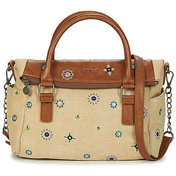 Sacs Femme Sacs porté main Desigual BOLS_JULY DENIM LOVERTY BEIGE