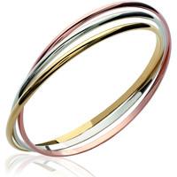 Montres & Bijoux Femme Bracelets Brillaxis Bracelet jonc  tricolore Multicolore