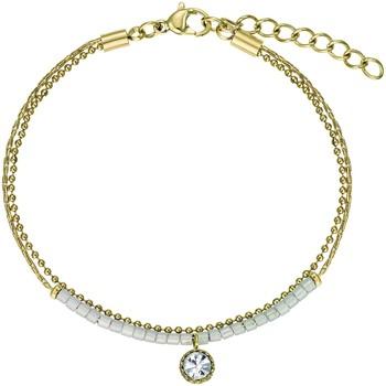 Montres & Bijoux Femme Bracelets Go Mademoiselle Bracelet  acier doré et rose clair Jaune