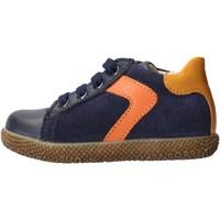 Chaussures Garçon Baskets basses Falcotto - Polacchino blu/arancione MISU-1C25 BLU