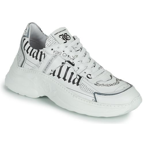 Chaussures Femme Baskets basses John Galliano SOFIA Blanc