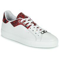 Chaussures Homme Baskets basses Roberto Cavalli KALE Blanc / Rouge