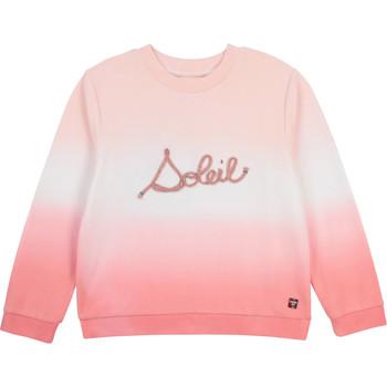 Vêtements Fille Sweats Carrément Beau SOLITA Blanc / Rose