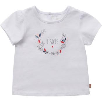 Vêtements Fille T-shirts manches courtes Carrément Beau BIANCA Blanc