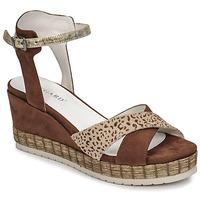 Chaussures Femme Sandales et Nu-pieds Regard DOUAI Marron