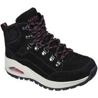 Chaussures Femme Baskets montantes Skechers Basket Femme Uno Rugged Noir