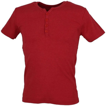 Vêtements Homme T-shirts manches courtes Biaggio MB-THEO Rouge