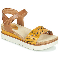Chaussures Femme Sandales et Nu-pieds Josef Seibel CLEA 09 Marron / Jaune