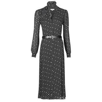 Vêtements Femme Robes longues MICHAEL Michael Kors CIRCLE LOGO SHRT DRS Noir / Blanc