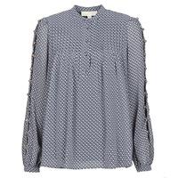 Vêtements Femme Tops / Blouses MICHAEL Michael Kors MINI FLORAL LS TOP Marine