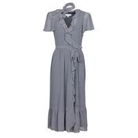 Vêtements Femme Robes longues MICHAEL Michael Kors MINI BICOLR 60S FLRL DRS Bleu