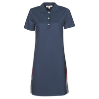 Vêtements Femme Robes courtes MICHAEL Michael Kors SS LOGO TAPE POLO DRS Marine