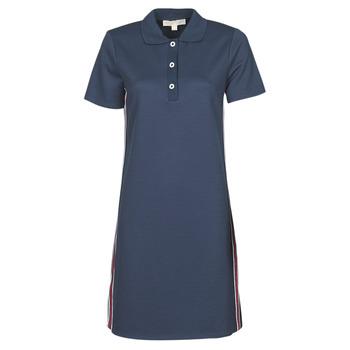 Vêtements Femme Robes courtes MICHAEL Michael Kors SS LOGO TAPE POLO DRS Marine