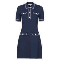 Vêtements Femme Robes courtes MICHAEL Michael Kors CONTRAST STITCH BUTTON DRESS Marine