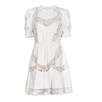 Vêtements Femme Robes courtes MICHAEL Michael Kors EYELETS EMB SMCK DRESS Blanc