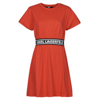 Vêtements Femme Robes courtes Karl Lagerfeld LOGOTAPET-SHIRTDRESS Orange