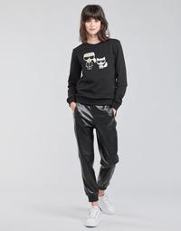 Vêtements Femme Pantalons 5 poches Karl Lagerfeld FAUXLEATHERJOGGERS Noir