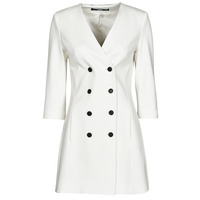 Vêtements Femme Robes courtes Karl Lagerfeld DOUBLEBREASTEDPUNTODRESS Blanc