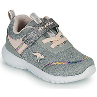 Chaussures Fille Baskets basses Kangaroos KY-CHUMMY EV Gris / Rose