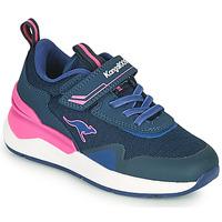Chaussures Fille Baskets basses Kangaroos KD-GYM EV Bleu / Rose