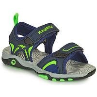 Chaussures Garçon Sandales et Nu-pieds Kangaroos K-MONT Bleu / Vert