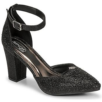 Chaussures Femme Sandales et Nu-pieds Spot on F90092 Noir