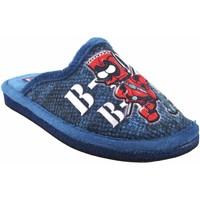 Chaussures Garçon Chaussons Gema Garcia Go home boy  2304-15 bleu Rouge