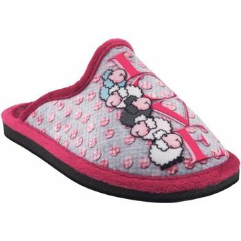 Chaussures Fille Chaussons Gema Garcia Rentrer à la maison fille  2304-8 mauve Gris