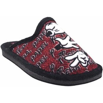 Chaussures Garçon Chaussons Gema Garcia Rentrer à la maison enfant  2304-14 ne.roj Rouge