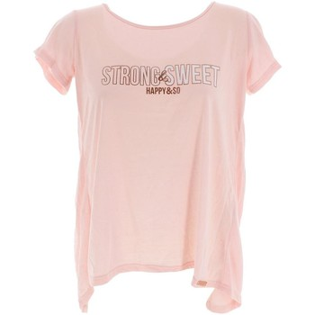 Vêtements Femme T-shirts manches courtes Happy And So Soft touch rse mc tee l Rose