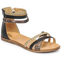Chaussures Fille Sandales et Nu-pieds Bullboxer ALM013F1S-ROSE Noir
