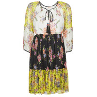 Vêtements Femme Robes courtes Derhy SARDAIGNE Noir / Blanc / Jaune