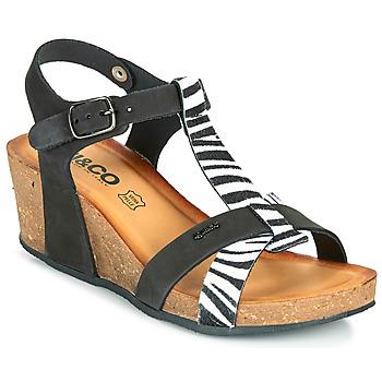 Chaussures Femme Sandales et Nu-pieds IgI&CO JOULIA Noir / Blanc